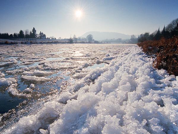 Eisgang auf der Weser